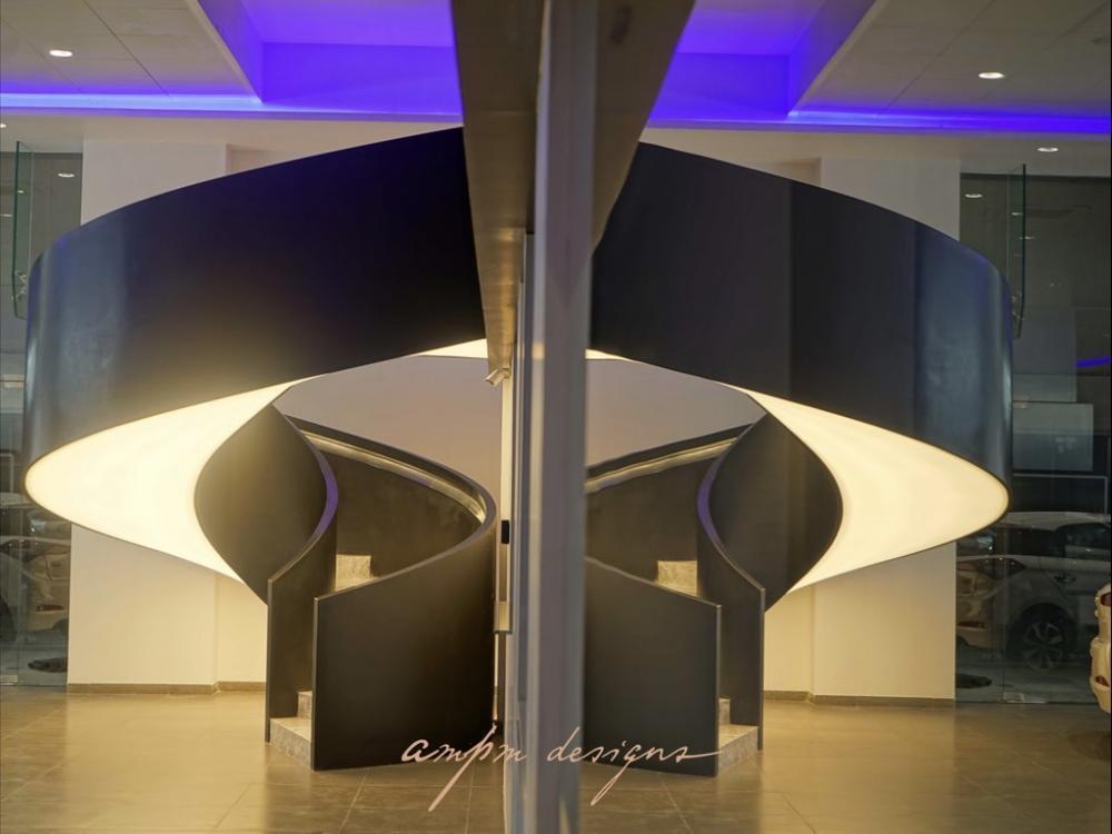 Hyundai Showroom Pune - Lit metal design