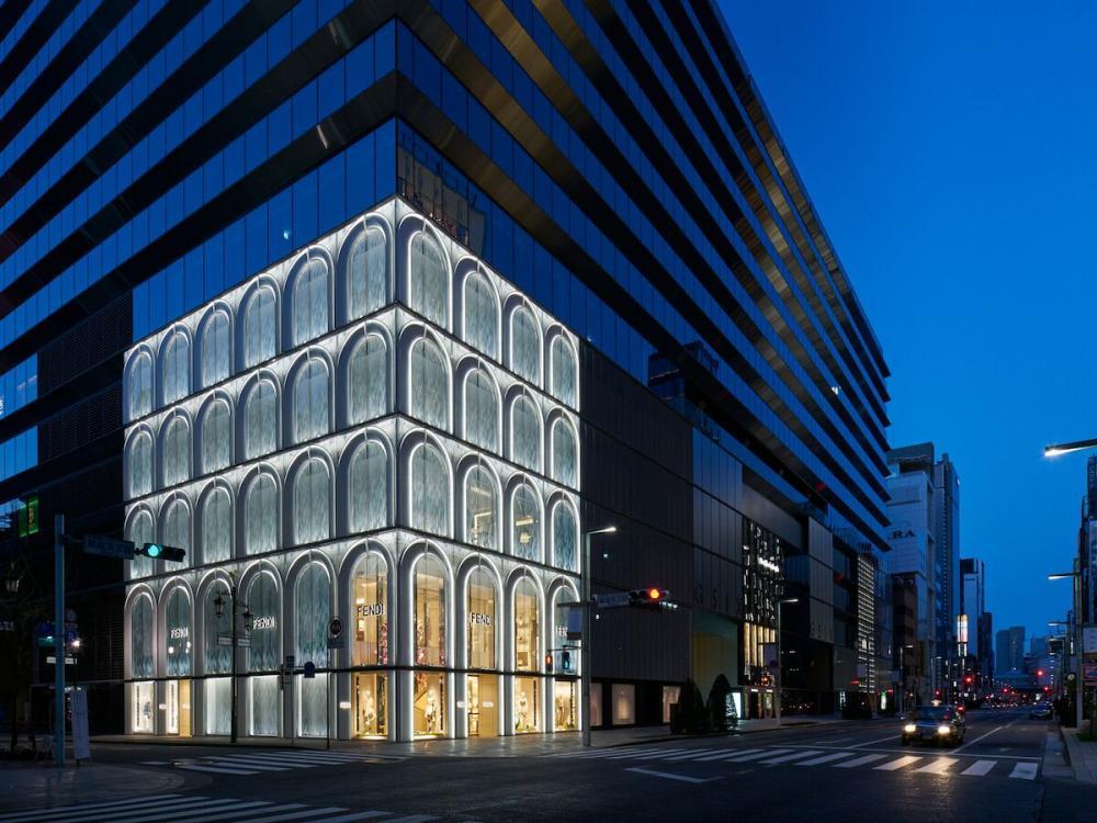 Facade Of Fendi Flagship Store In Ginza Six Barbara